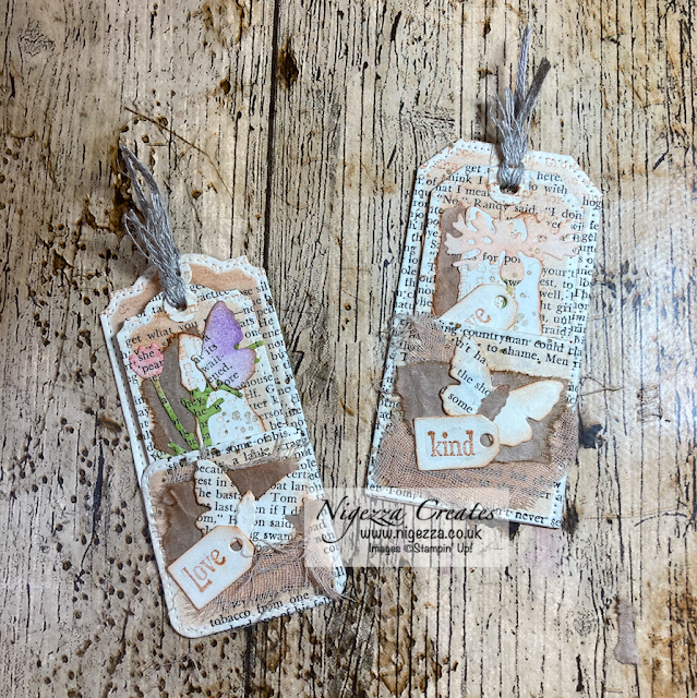 Using Only Old Book Pages to Make Tag Pockets & Tags