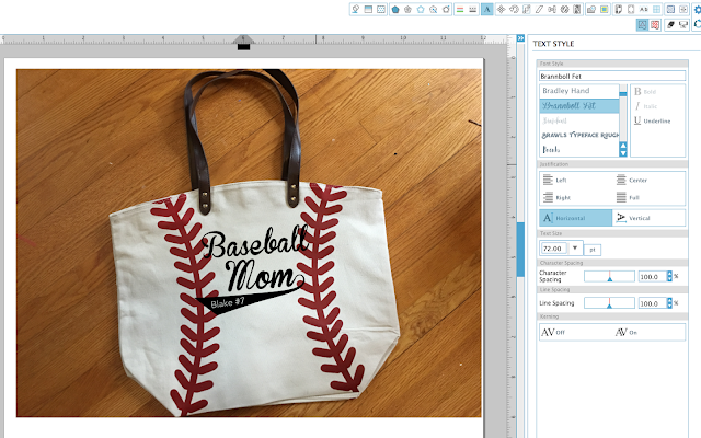 baseball mom tote bag, silhouette cameo seller, silhouette cameo shop, etsy shop, silhouette cameo