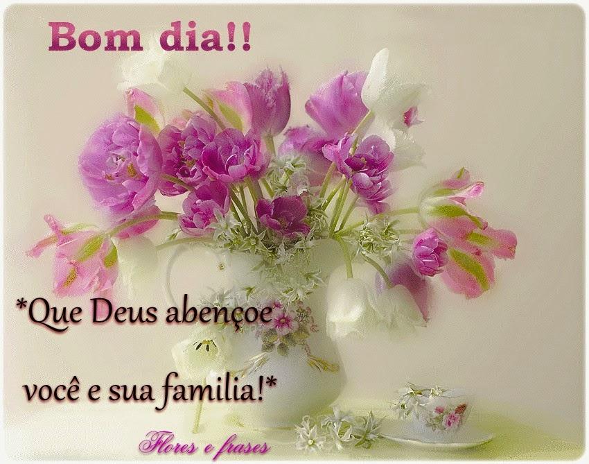 Tag Mensagem De Bom Dia Para Família Com Flores