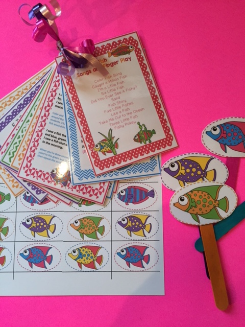 Fish songs and finger play preschool printables for Fish songs for preschoolers