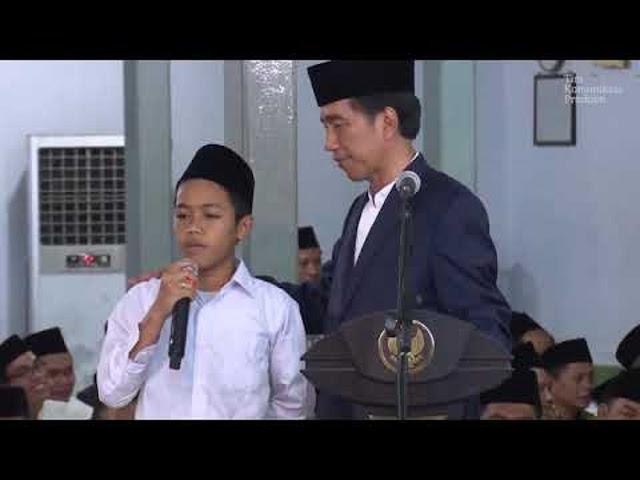 2016 Yang Lalu di Depan Jokowi, Santri Ini 'Ramal' Prabowo Itu Menteri