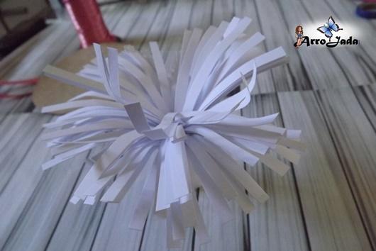 diy Flores gigantes de papel