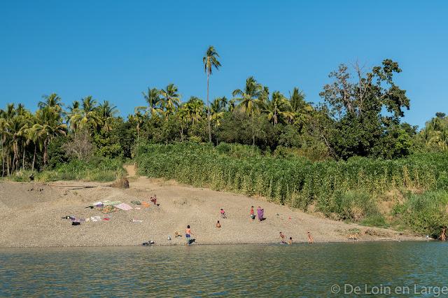 Rivière Lemro-Birmanie-Myanmar