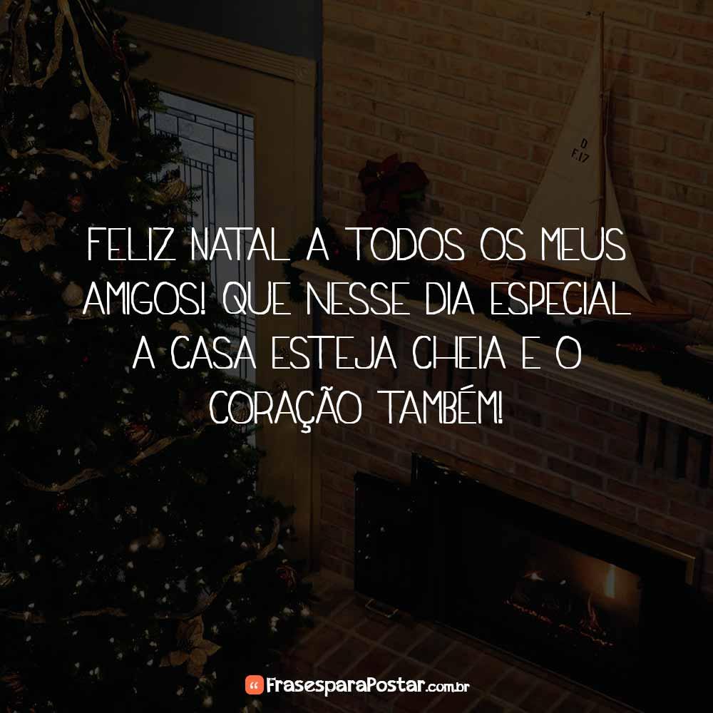 Feliz Natal a todos os meus amigos! Que nesse dia especial a casa esteja cheia e o coração também!