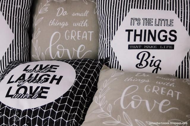 poduszki z napisami