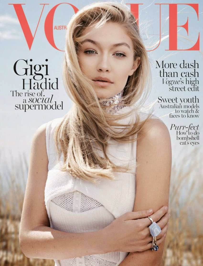 Gigi Hadid lands the June 2015 Vogue Australia cover