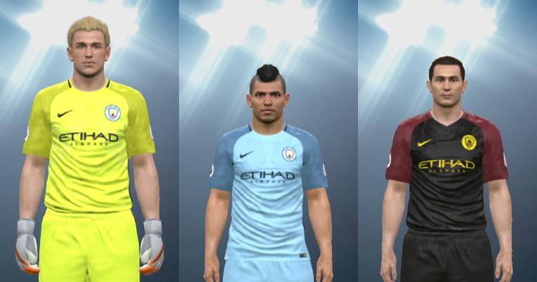Wepes Sport Uniforme Manchester City 2016 17 Novo Emblema Pes 2016 Pc Ps3