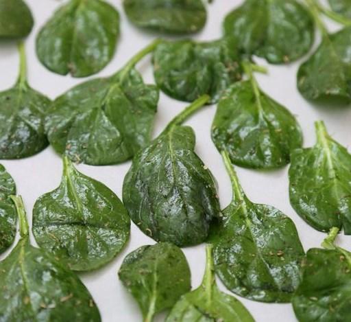Spinach Chips #vegetarian #vegan
