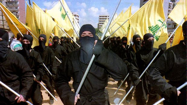 Hezbollah Fighters March Through Beirut