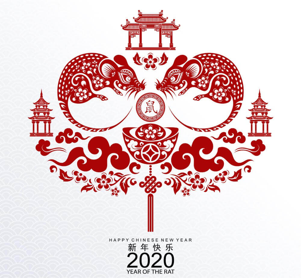 Happy Chinese New Year 2020 The Rat