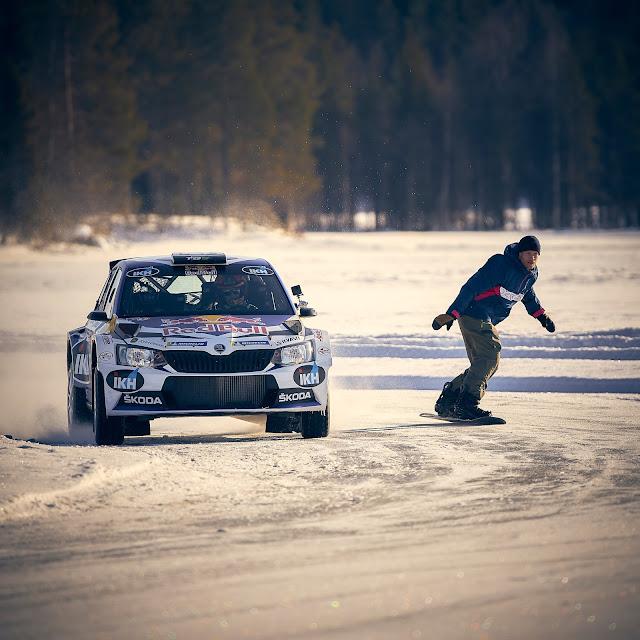 Kalle Rovanpera Snow boarder WRC