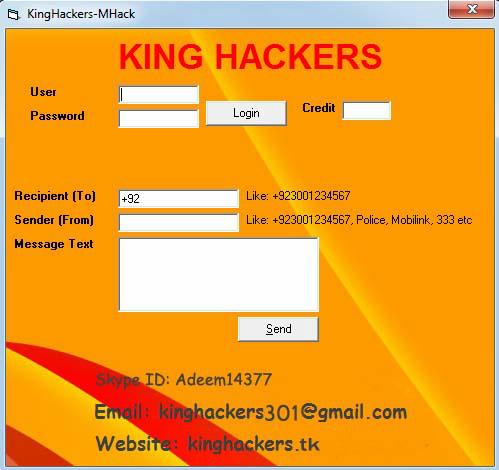 Kinghackers: Fake SMS Sender
