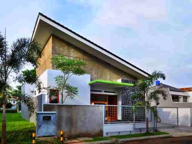 model rumah atap miring 4