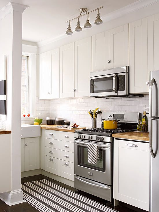 black n white kitchen cabinet cocinas peque 241 as modernas y funcionales revista 12422