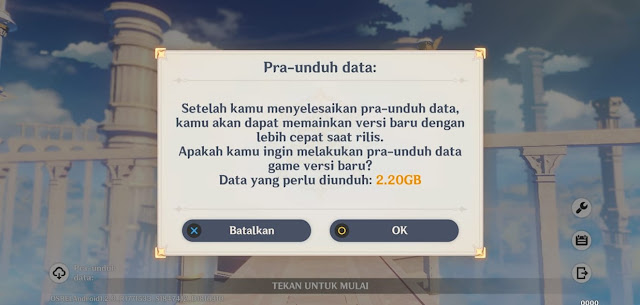 size update pra-unduh Genhsin 1.3 Android
