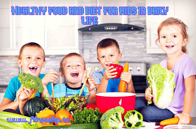 Healthy food and diet for kids in daily life