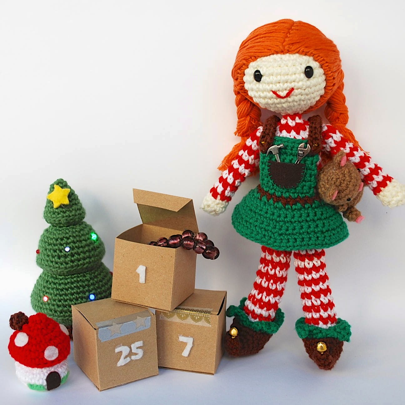 Amigurumi elf and advent calendar