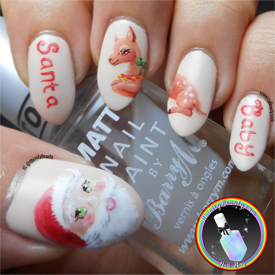 Freehand santa raindeer nail art ithinitybeauty nail art blog todays nail art is one i am undecided on i mean i liked the idea but i feel my execution let me down a little bit also i hadnt planned it out prinsesfo Choice Image