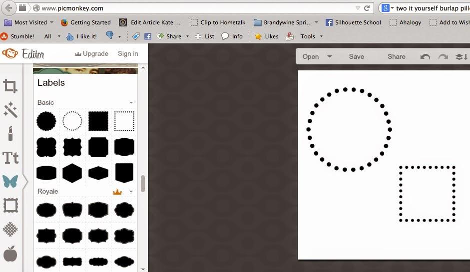 Polka dot, shapes, Silhouette Studio, Silhouette tutorial, PicMonkey