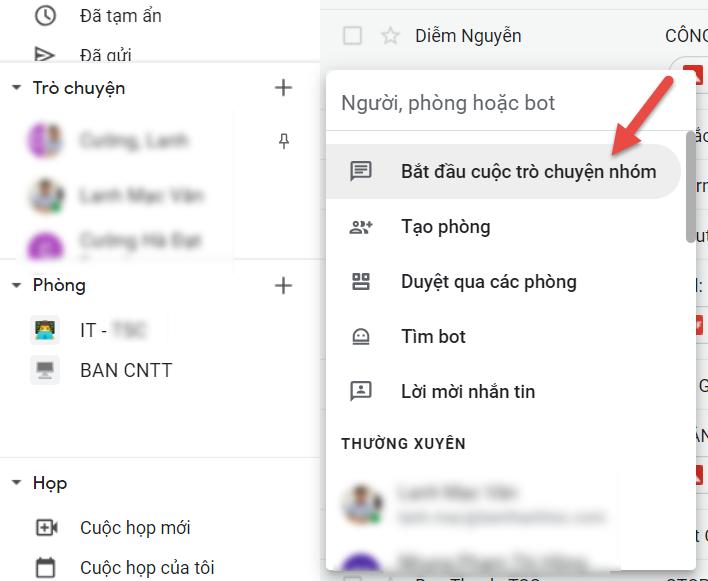 Tính năng Chat Room trên Google Workspace