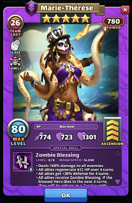 Marie-Therese Empires & Puzzles Hero Card