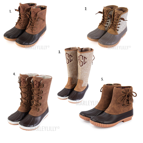 monogram duck boots sizes and types