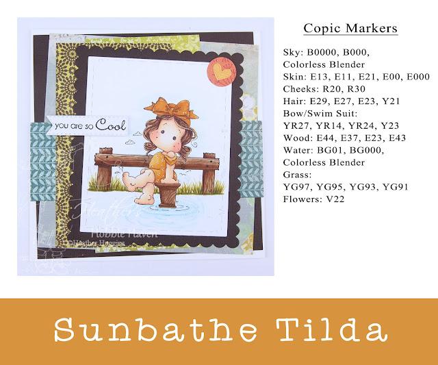 Heather's Hobbie Haven - Sunbathe Tilda Card Kit