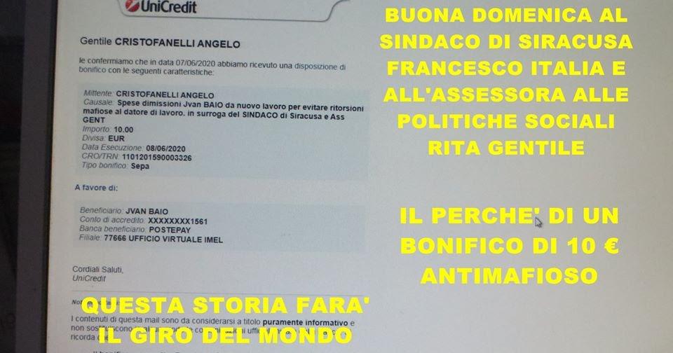 Angelo Cristofanelli Buona Domenica Al Sindaco Francesco Italia E Alla Assessora Rita Gentile
