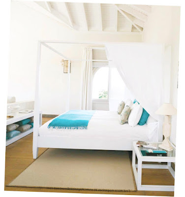 Beach Decor For Bedroom With White Color for Bed Cover and Wall Best Picture 2016