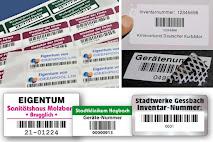 Barcode-Etiketten für Inventar und Eigentum