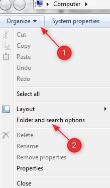 Langkah -Langkah Menampil Hidden File di Windows 7