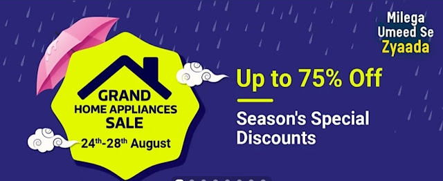 Flipkart Grand Home Appliances Sale 24th - 28th August 2020
