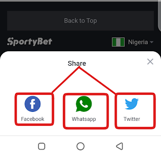 Sportybet code sharing