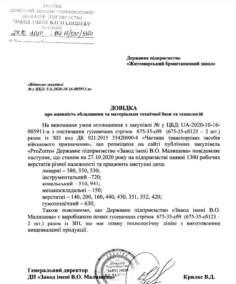 ЗІМ і НВП «Актив Спец Пром» перемогли в тендері ЖБТЗ на поставку гусениць за два дні