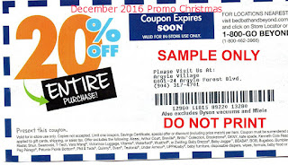 free Bed Bath and Beyond coupons for december 2016