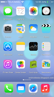 iOS 7 Launcher Apk - Thema Android mirip iPhone
