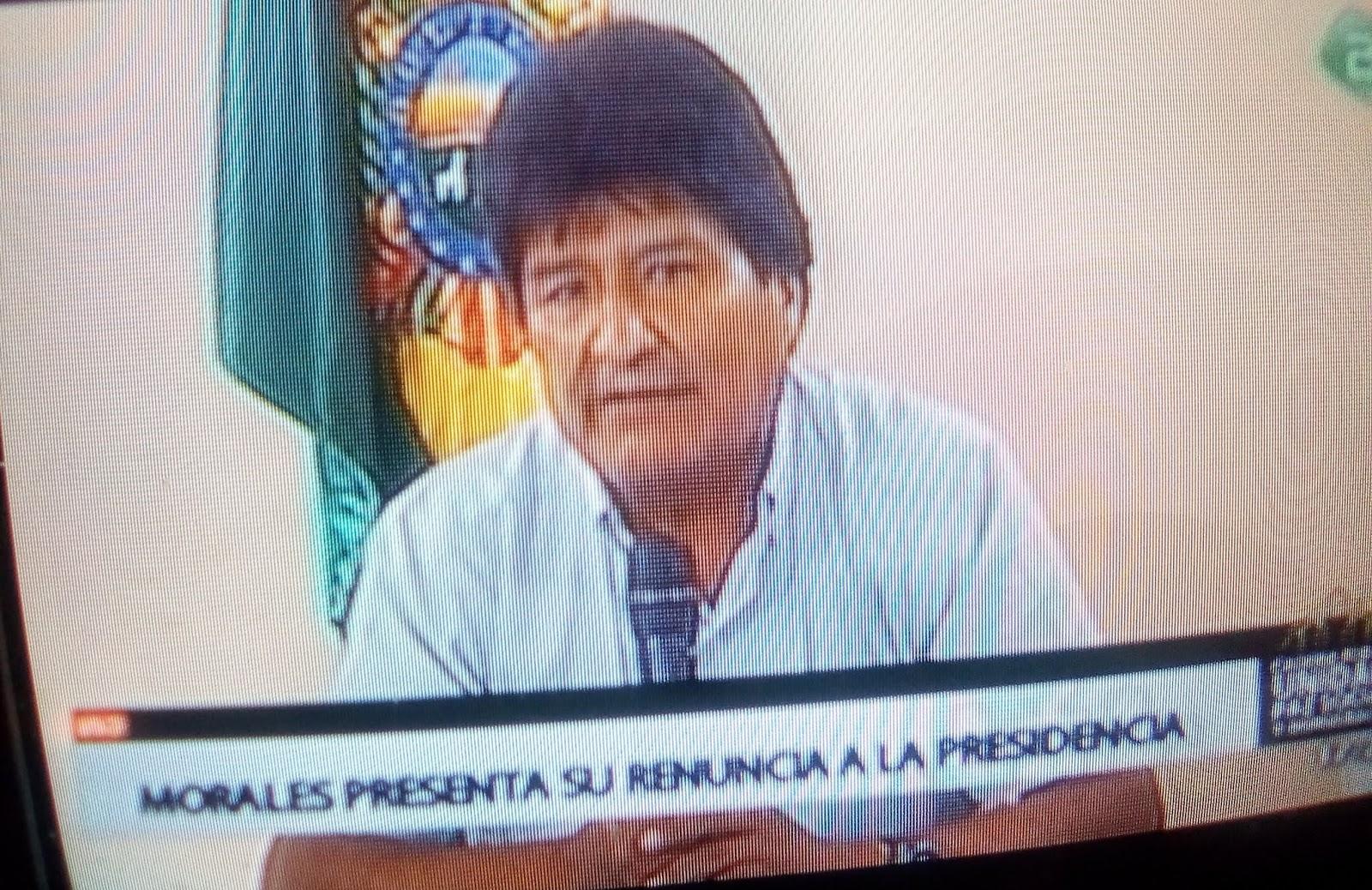Morales dimitió luego de 13 años y 10 meses / CAPTURA BTV