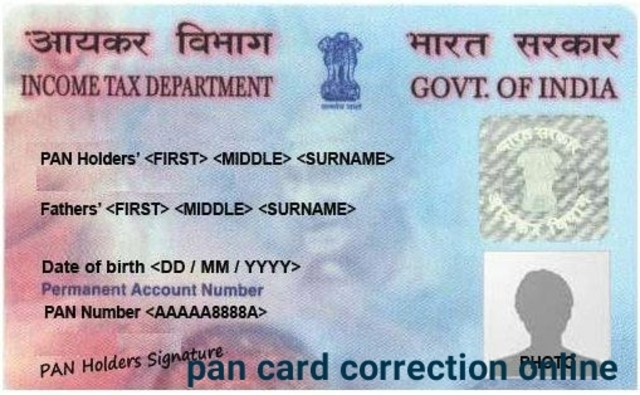 pan card correction online