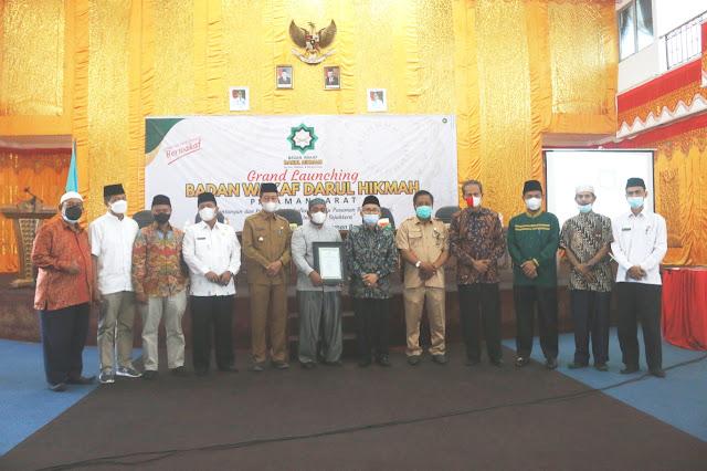 Ketua DPRD Pasbar Farizal Hafni S.T Menghadiri Launching Badan Wakaf Darul Hikmah Pasbar