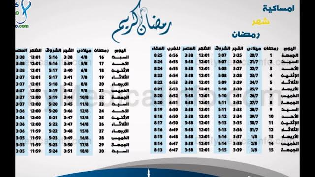 تعرف علي أمساكية شهر رمضان 2018 في العراق الان تعرف علي عدد أيام ومواقيت الصلاه في رمضان بالعراق Ramadan 2018 in Iraq