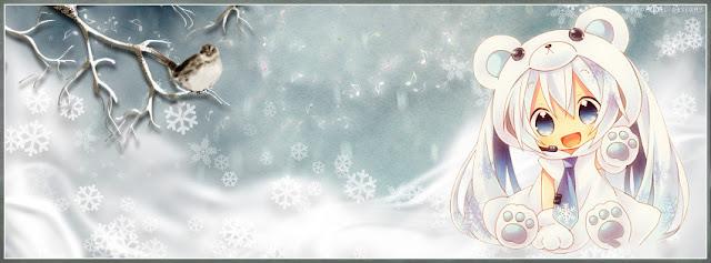Ảnh bìa Facebook giáng sinh anime dễ thương