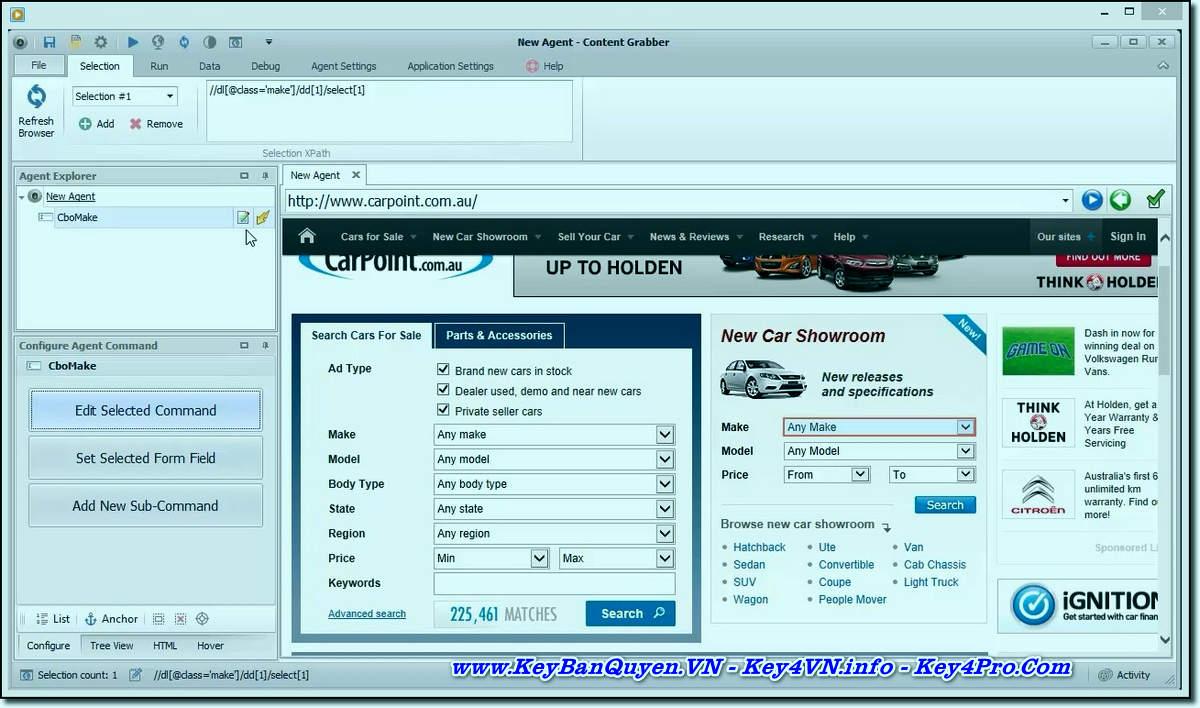 Download và cài đặt Content Grabber 2.69.1 Full Key, Phần mềm tự đông thu thập dữ liệu từ Website.