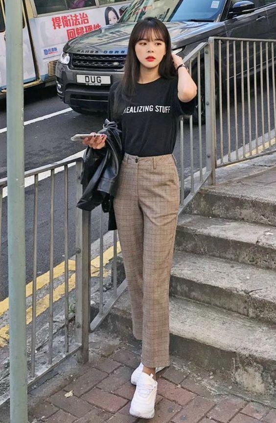 Estilo coreano feminino urbano
