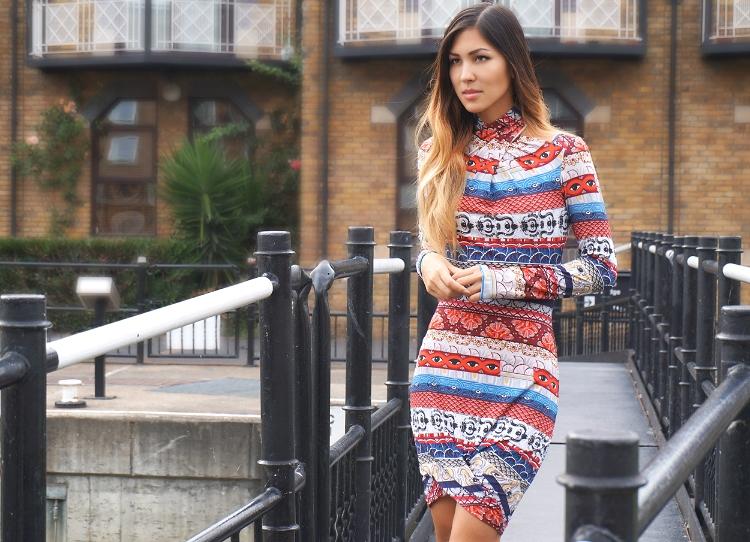 Euriental - fashion & luxury travel, Kenzo eye dress, Vince Camuto snakeprint mules