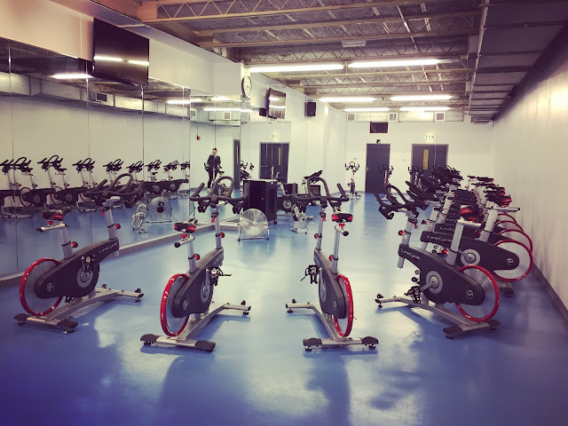Indoor cycling studio at John Bunyan Centre