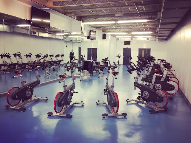 Indoor cycling studio at John Bunyan Centre