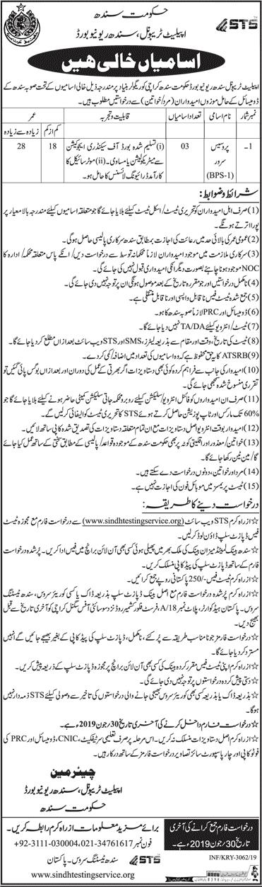 Jobs In Board Of Revenue Sindh June 2019