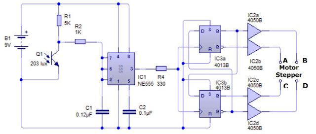 Implementasi Sensor Phototransistor dengan Motor Stepper