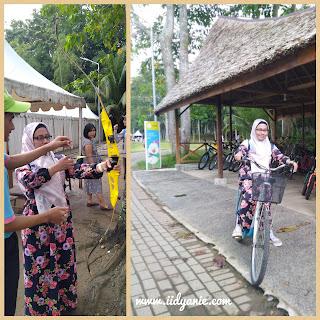 memanah dan bersepeda di budayaland