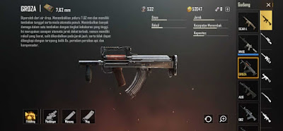 Groza - 4 Assault Rifle Favorite Umat PUBG